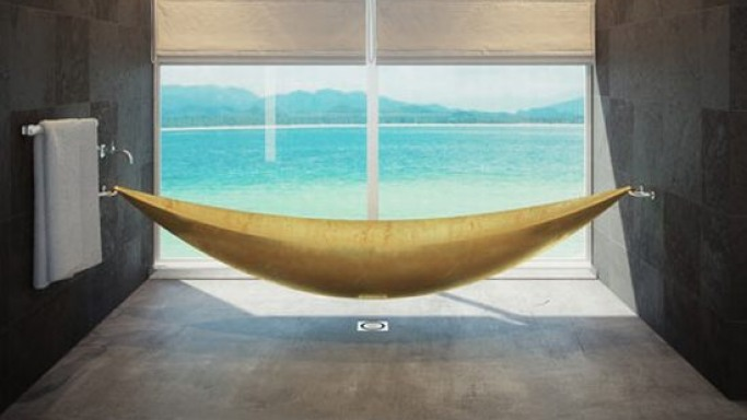 Splinter Works' Vessel creates a hammock-like bathing experience