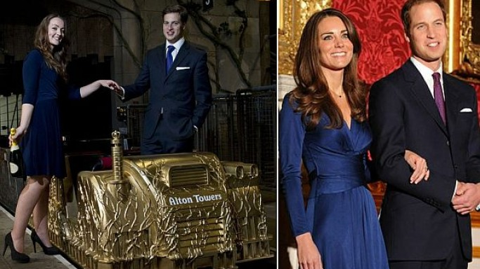 A Royal gift for the royal couple: Golden roller coaster wagon