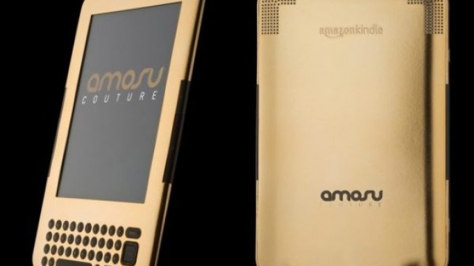 Amosu Couture does the Amazon Kindle in 24ct gold