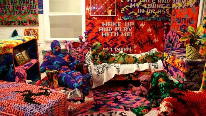 Would you spend $90,000 on an apartment covered in crochet?