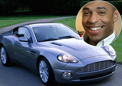 photo of Thierry Henry  - car