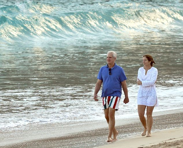 Caroline kennedy enjoys a relaxing beach holiday with her family in st